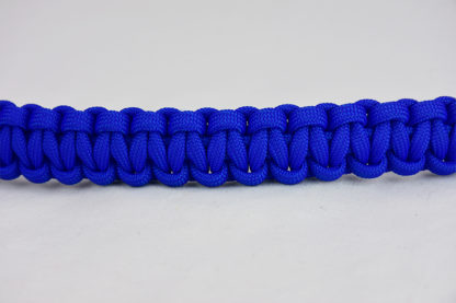 blue paracord bracelet unity band, picture of a blue paracord bracelet across the center of a white background