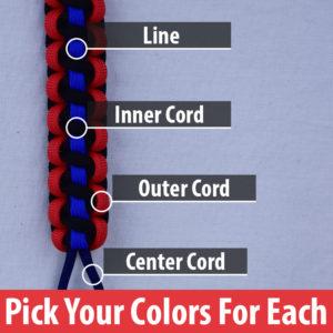 custom line paracord bracelet