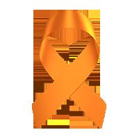 orange leukemia support ribbon, paracord bracelet to support leukemia with orange support ribbon