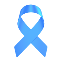 light blue support ribbon, prostate cancer support ribbon light blue, paracord bracelets that support prostate cancer with a light blue ribbon