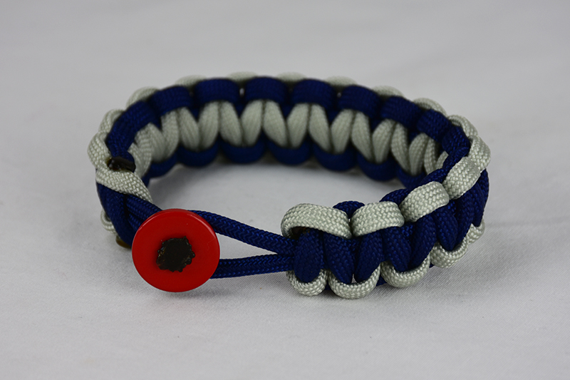 Navy Blue Grey And Navy Blue Paracord Bracelet Unity Band
