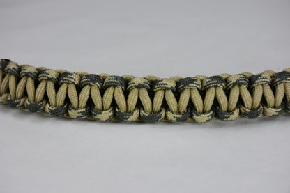 od green desert sand foliage camouflage and desert sand paracord bracelet unity band across the center with a white background