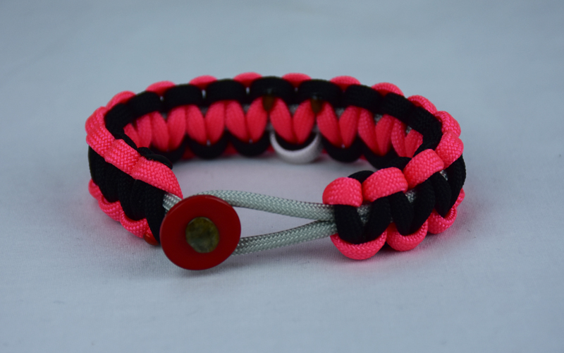 Grey Pink And Black Multiple Sclerosis Support Paracord